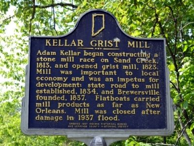 Kellar Grist Mill Marker image. Click for full size.