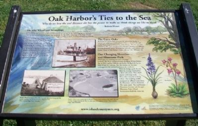 Oak Harbor's Ties to the Sea Marker image. Click for full size.