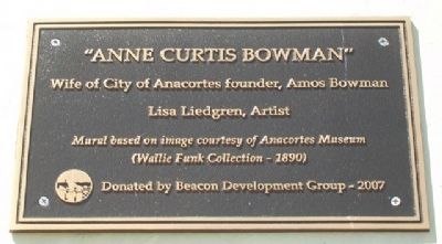 """Anne Curtis Bowman"" Mural Marker image. Click for full size."