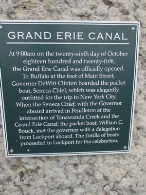 Grand Erie Canal Marker image. Click for full size.