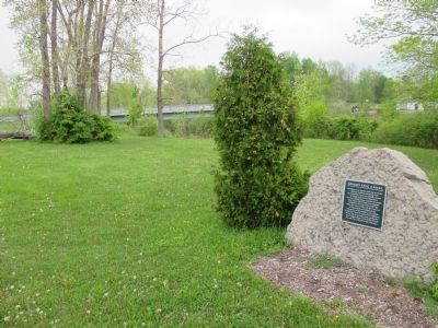 Grand Erie Canal Marker and Bridge image. Click for full size.