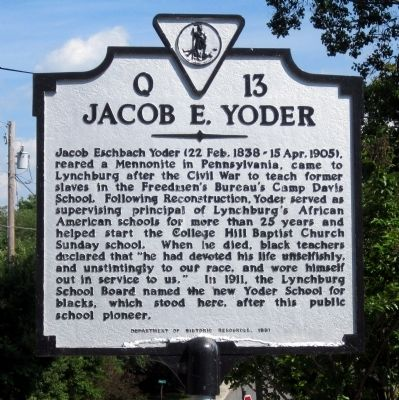 Jacob E. Yoder Marker image. Click for full size.