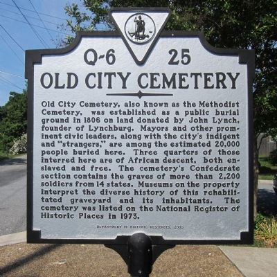 Old City Cemetery Marker image. Click for full size.