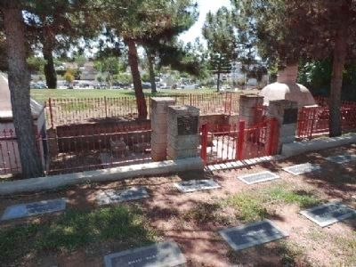 Chinese Cemetery Shrine - ritual enclosure at Evergreen Cemetery, southeast section image. Click for full size.