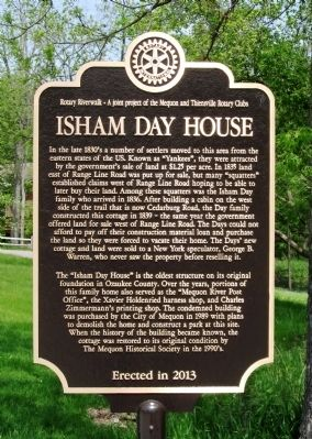 Isham Day House Marker image. Click for full size.