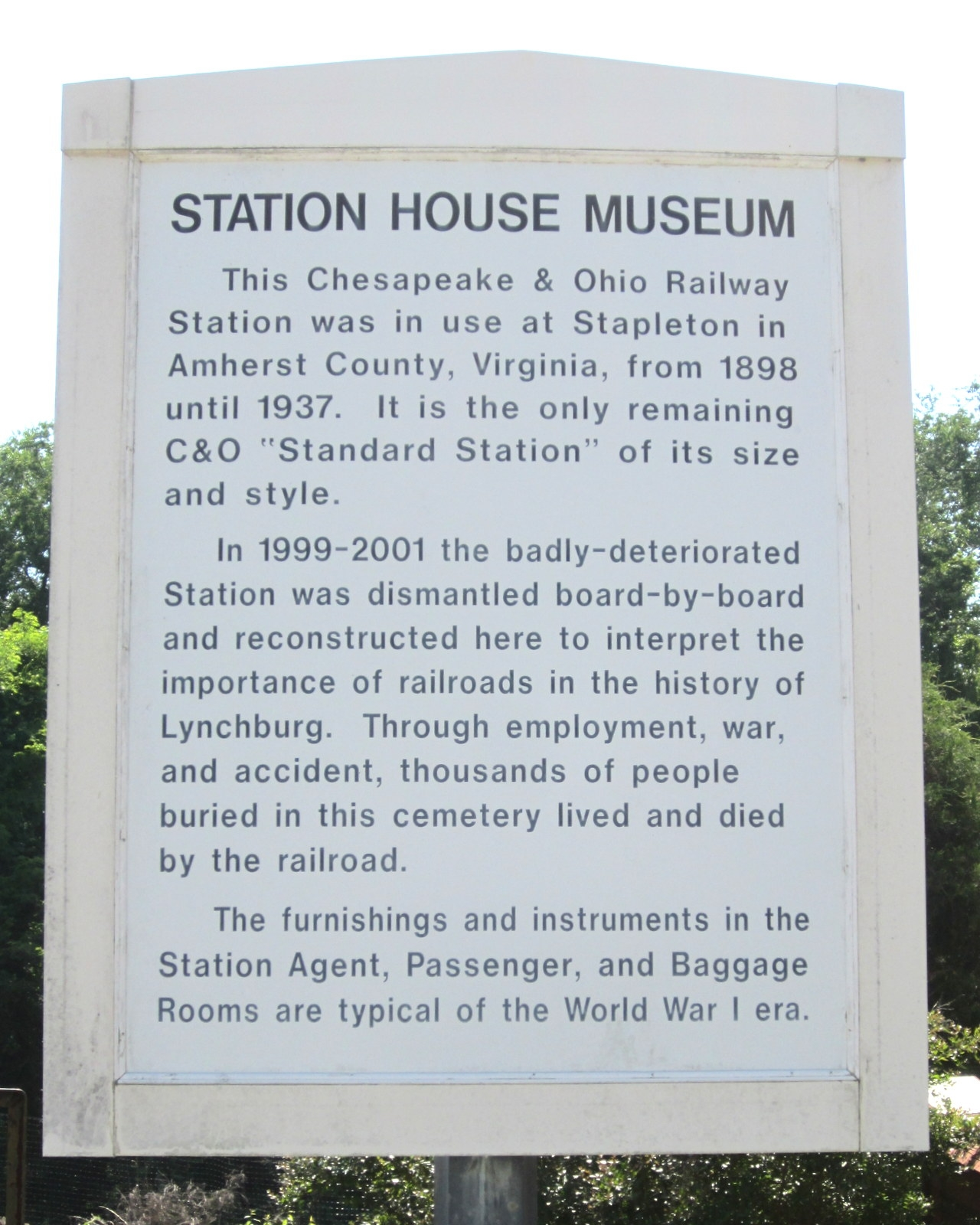 Station House Museum Marker