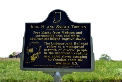 John H. and Sarah Tibbets Marker image. Click for full size.