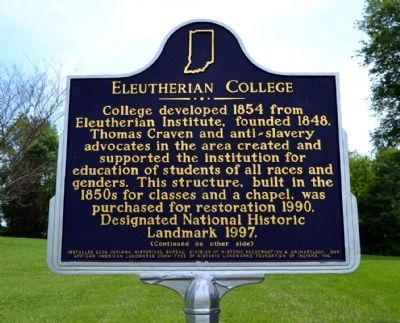 Eleutherian College Marker image. Click for full size.