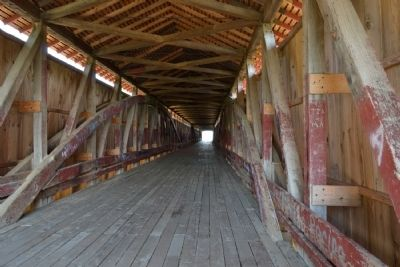 Interior of Medora Covered Bridge image. Click for full size.