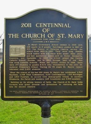 2011 Centennial of The Church of St. Mary Marker image, Touch for more information