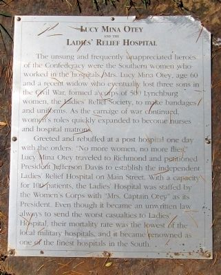 Lucy Mina Otey and the Ladie's Relief Hospital Marker image. Click for full size.