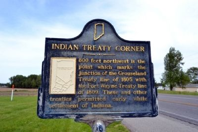Indian Treaty Corner Marker image. Click for full size.
