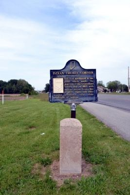 Indian Treaty Corner and<br>10 O'Clock Indian Treaty Line Markers image. Click for full size.