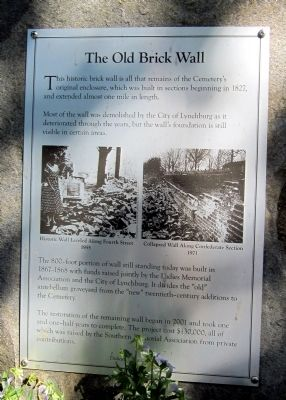 The Old Brick Wall Marker image. Click for full size.