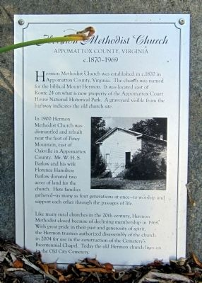 Hermon Methodist Church Marker image. Click for full size.