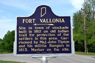 Fort Vallonia Marker image. Click for full size.