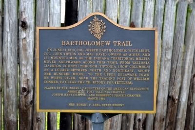 Bartholomew Trail Marker image. Click for full size.
