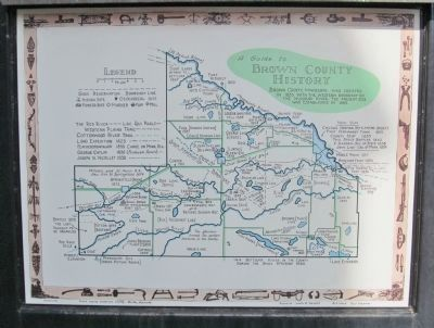 Nearby Brown County History Map image. Click for full size.