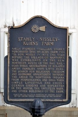 Stahly - Nissley - Kuhns Farm Marker image. Click for full size.