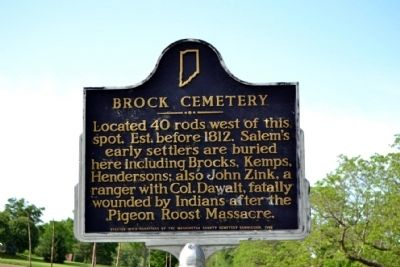 Brock Cemetery Marker image. Click for full size.