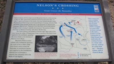 Nelson's Crossing Marker image. Click for full size.
