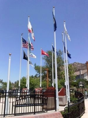City of Poway Veterans Park Flags image. Click for full size.