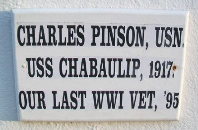 Charles Pinson, USN Marker image. Click for full size.