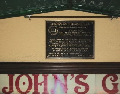 John's Grill Marker image. Click for full size.