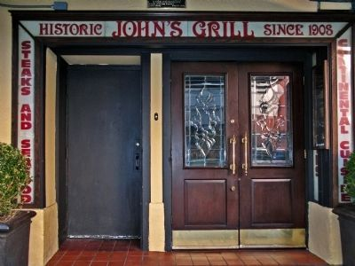 Historic John's Grill<br>Since 1908 image. Click for full size.