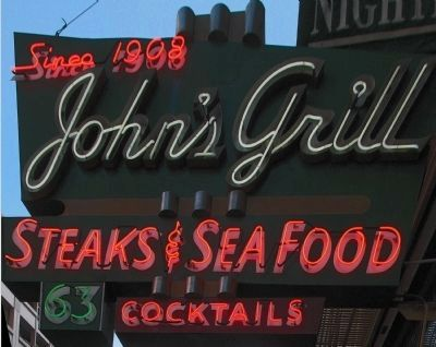 Since 1908<br>John's Grill<br>Steaks & Seafood Cocktails image. Click for full size.