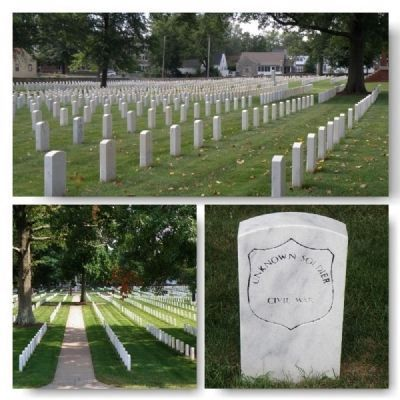 New Albany National Cemetery Markers image. Click for full size.
