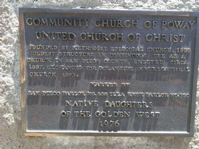 Community Church of Poway, United Church of Christ image. Click for full size.