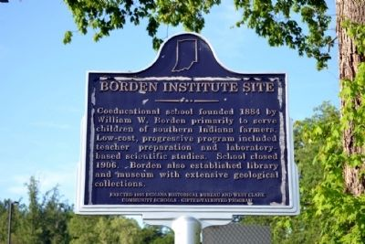 Borden Institute Site Marker image. Click for full size.
