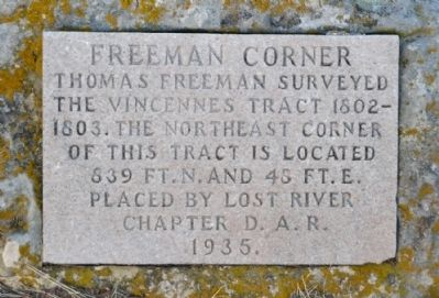 Freeman Corner Marker image. Click for full size.
