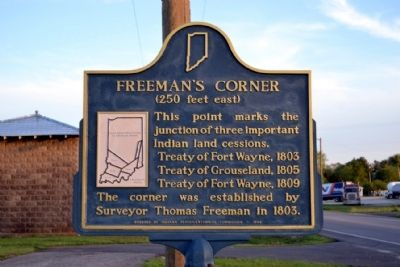 Freeman's Corner Marker image. Click for full size.