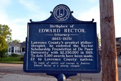 Birthplace of Edward Rector, Attorney Marker image. Click for full size.