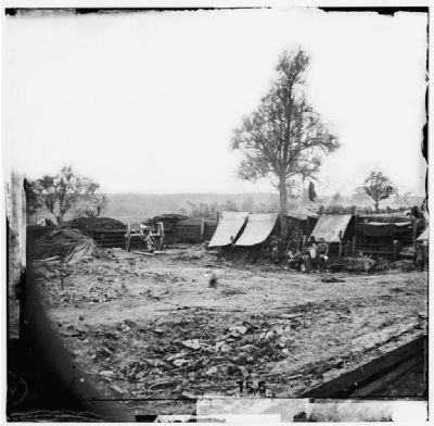 North Anna River, Virginia. Interior view of Confederate redoubt commanding Chesterfield bridge. image. Click for full size.