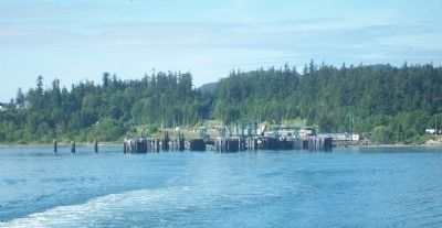 Ship Harbor Ferry Terminal from Ferry image. Click for full size.