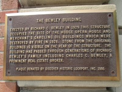 The Bewley Building Marker image. Click for full size.