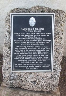 Kawaiaha'o Church Marker image. Click for full size.