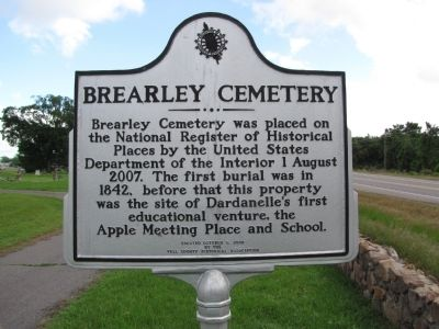 Brearley Cemetery Marker image. Click for full size.