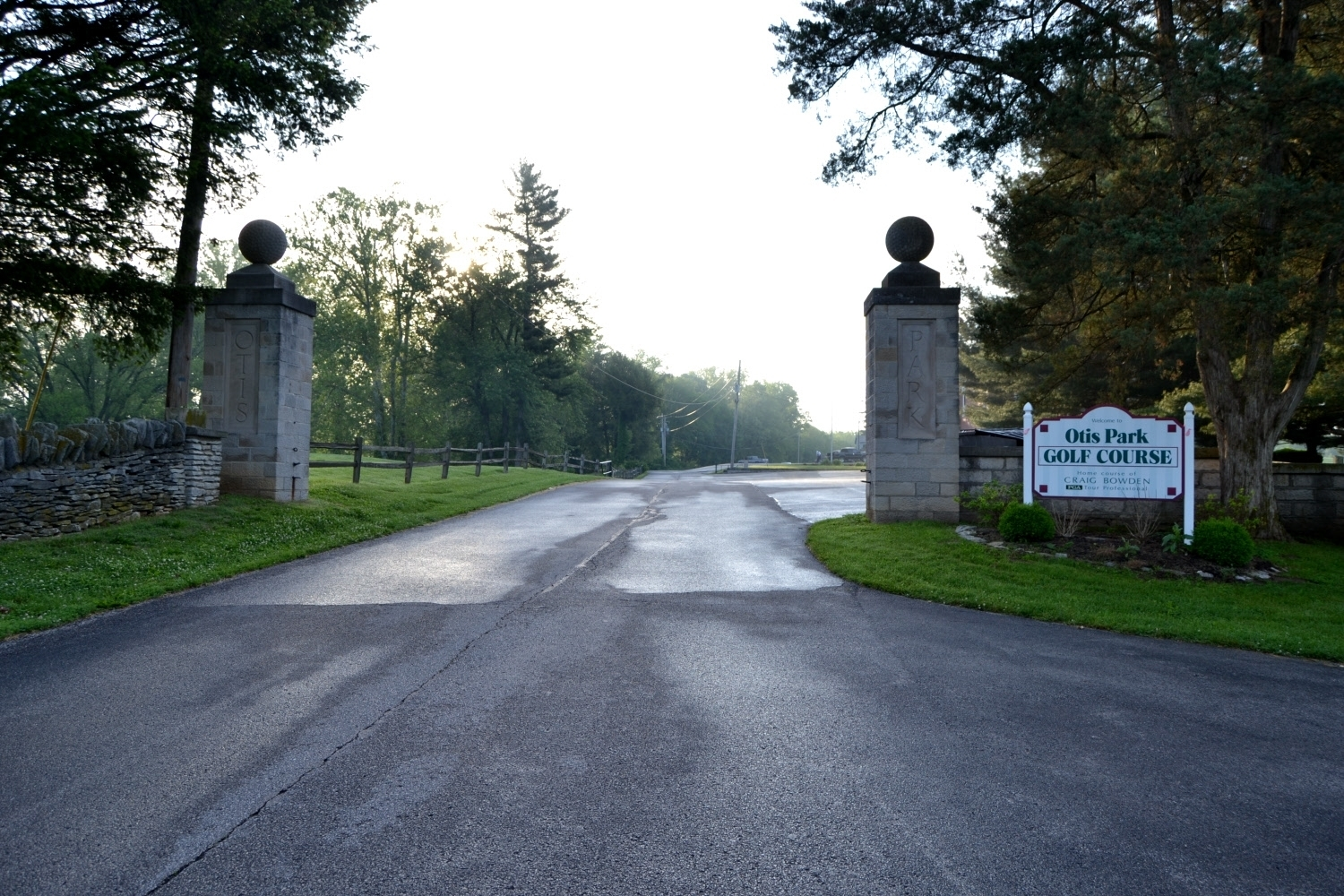 Front Side of Otis Park Gate Entrance