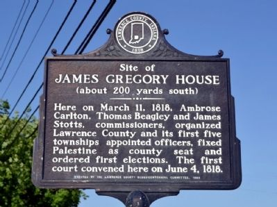 Site of James Gregory House Marker image. Click for full size.