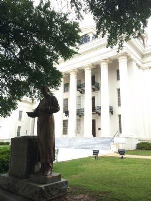 Alabama State Capitol (Marker to right of door) image. Click for full size.