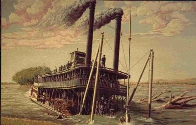 The Sinking of the Steamboat <i>Bertrand</i> Marker image. Click for full size.