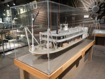 Model of the Steamboat <i>Bertrand</i> image. Click for full size.