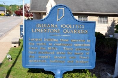 Indiana (Oolitic) Limestone Quarries Marker image. Click for full size.