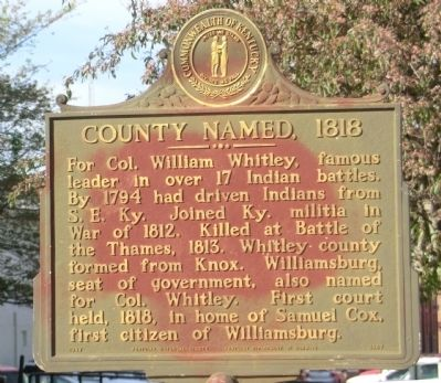 County Named, 1818 Marker image. Click for full size.