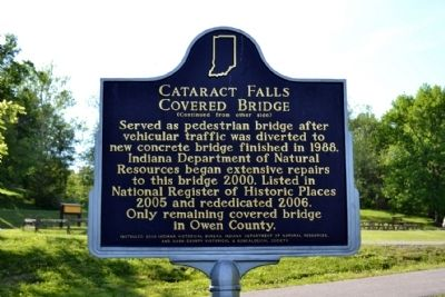 Cataract Falls Covered Bridge Marker image. Click for full size.