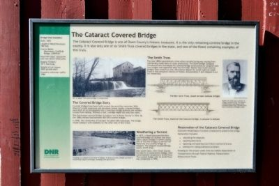 The Cataract Covered Bridge Marker image. Click for full size.